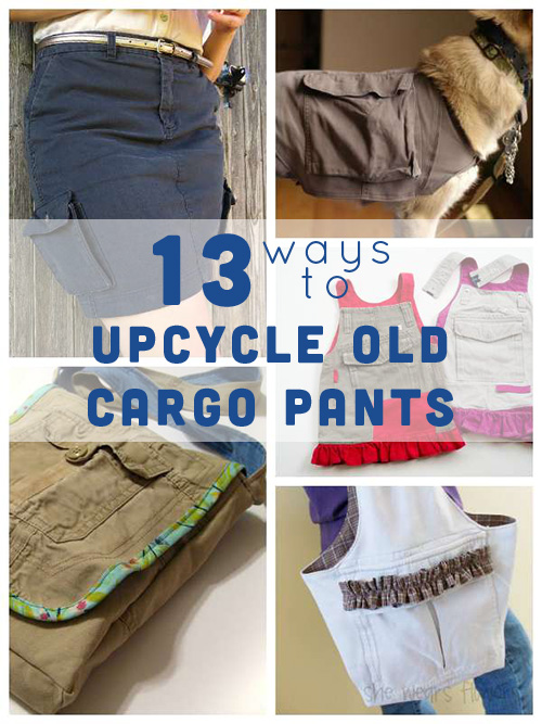 Here are my favorite ways to upcycle your cargo pants!
