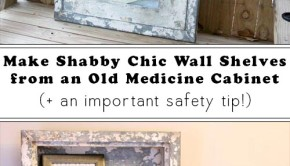 Do you love unique DIY home decor? Don't throw away that old medicine cabinet– upcycle it into awesome DIY wall shelves!