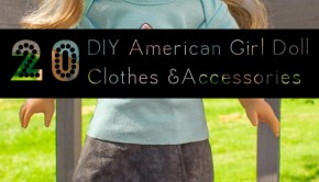 You don't have to spend a ton of money on clothes for your kid's American Girl dolls. Make these DIY American Girl Doll clothes and accessories instead!