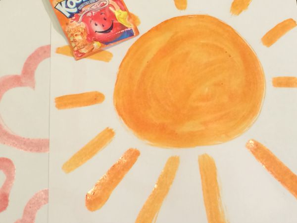 Homemade Kool-Aid Watercolor Paints
