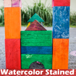 Watercolor Stained Building Blocks