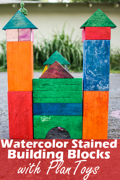 I'm going to show you how to make stained building blocks using one super simple and readily-available art supply: liquid watercolors.