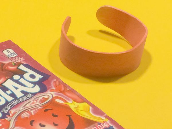 Popsicle Stick Bracelets Dyed with Kool-Aid!