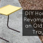 Don't throw away that old TV tray! Revamp it into a functional laptop stand with a little bit of crafty love.