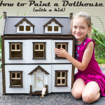 How to Paint a Dollhouse with a Kid