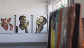 Artist Mbongeni Buthelezi uses melted plastic to create beautiful works of art.