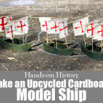 Upcycled Cardboard Model Ship