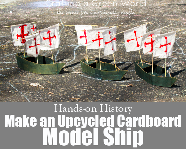 Upcycled Cardboard Model Ship