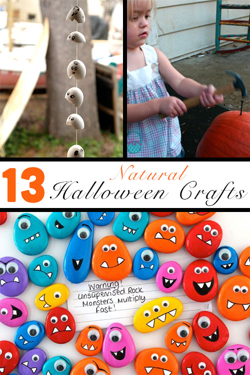 Forget the cheapo, store-bought decorations. Make these Halloween nature crafts with your kids instead!
