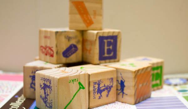 Decoupage Alphabet Blocks