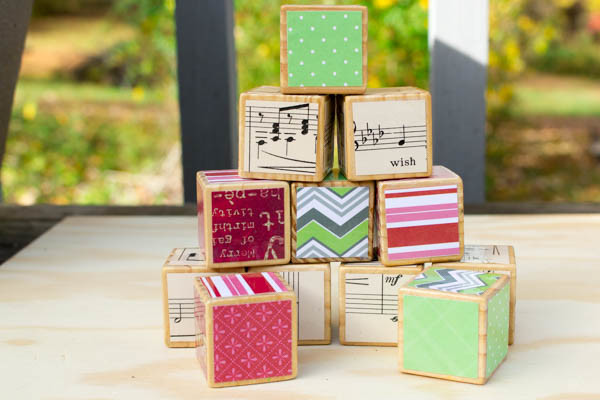 Decoupage Alphabet Blocks