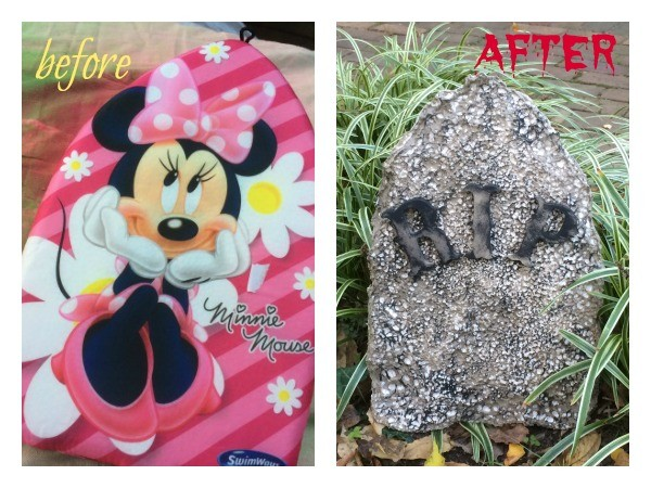 From Minnie Mouse to HAUNTED HOUSE! These DIY Halloween tombstones take you from pool to ghoul with just a few zaps of craft magic.