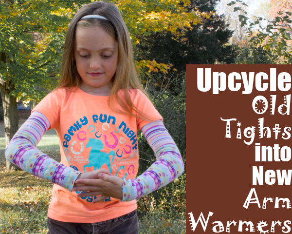 Upcycle Tights into Arm Warmers
