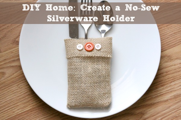 wow your guests with burlap nosew silverware holders