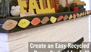 This easy recycled paper fall garland that's so simple to make, you'll be gathering your craft supplies before this post is even over!