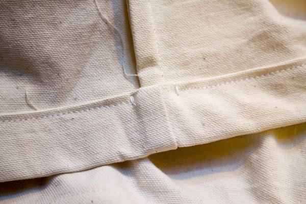 Freezer Paper Stenciled Drawstring Bag
