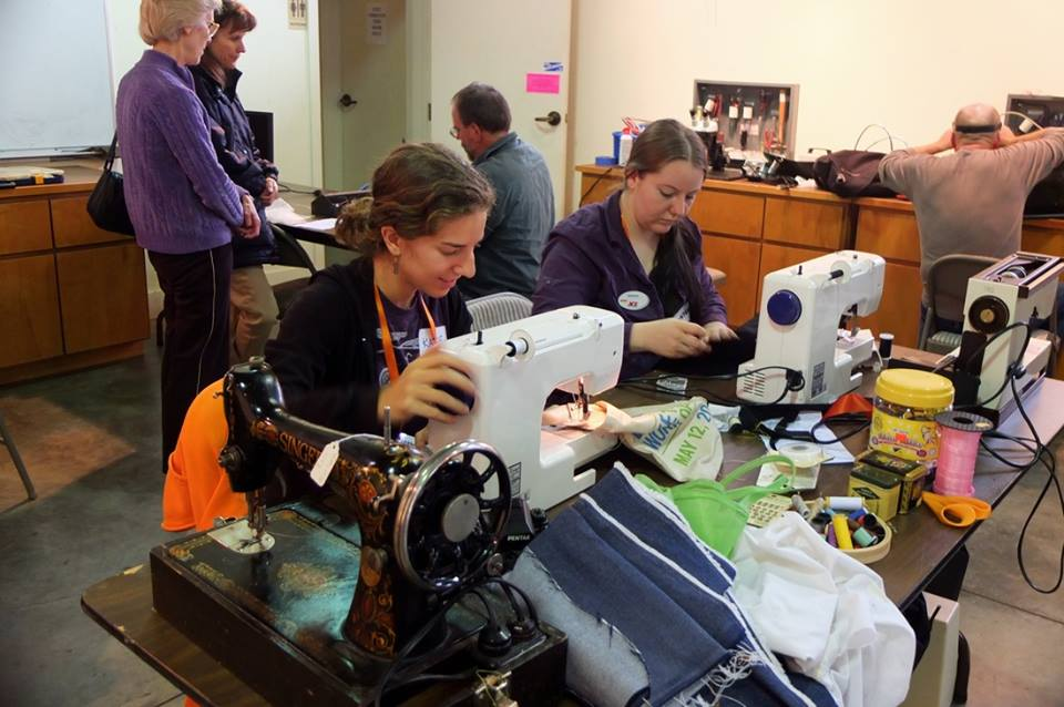 A Repair Café is a local event where neighbors come together to mend everything from torn clothes to broken small appliances to furniture.