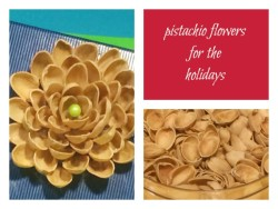 Nature Crafts for Christmas: pistachio flower