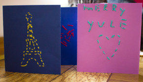 embroidered greeting cards