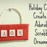 It's never too early to make some holiday crafts like this adorable scrabble ornament!