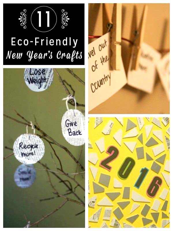 Celebrate the new year with all of the hoopla that it deserves with these eco-friendly New Year's crafts!