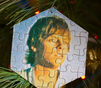 Upcycled Christmas Crafts: Make a Puzzle Christmas Ornament