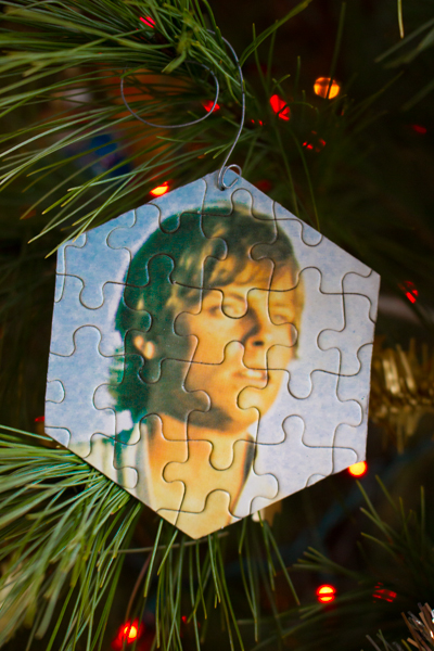 Make a Puzzle Christmas Ornament