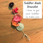 Learning to string and lace is hard for kids. Here's how I got my two-year-old interested in this toddler fine motor project.