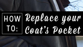 Check out this relatively simple way to completely replace a coat pocket, so it's even sturdier than the original.