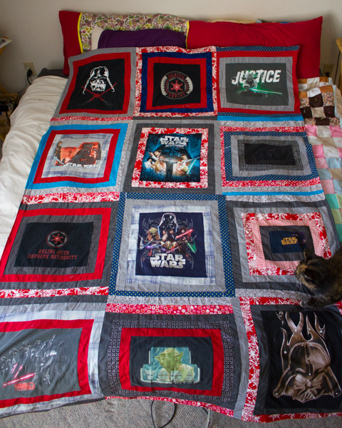 Star Wars T-Shirt Quilt
