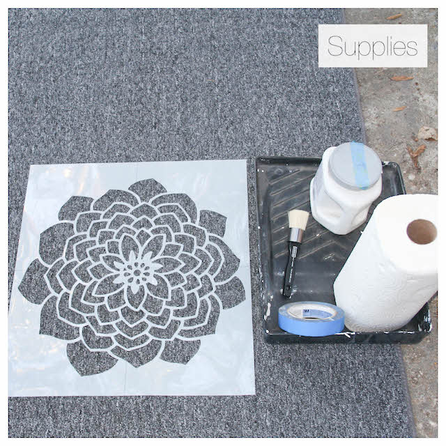how to stencil a rug supplies