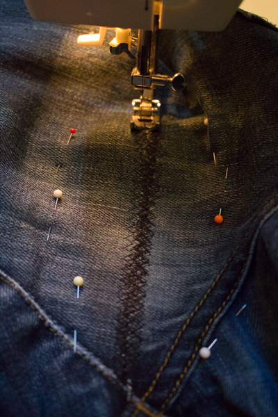 how to patch a hole in jeans by hand