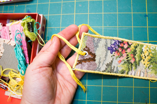 upcycled cross stitch bookmark (1 of 4)-2