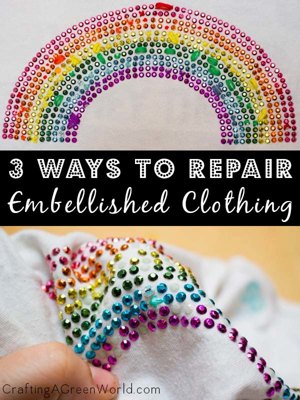 Here are 3 methods to repair embellished clothing, so it looks good as new!
