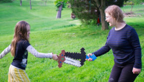 Minecraft Crafting: Scrap Wood Minecraft sword