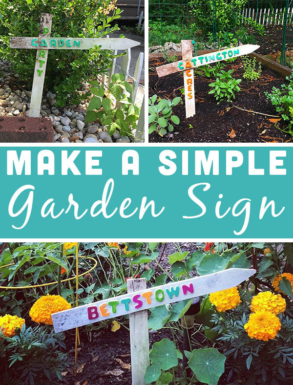 Diy Garden Sign From Old Fence Stakes