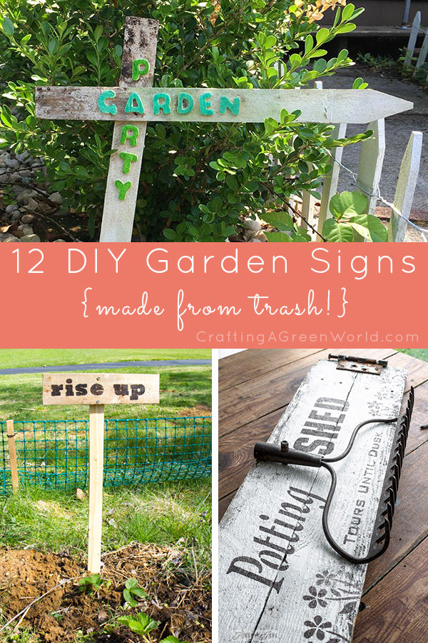 Raid your shed for supplies and make some cute, DIY garden signs!