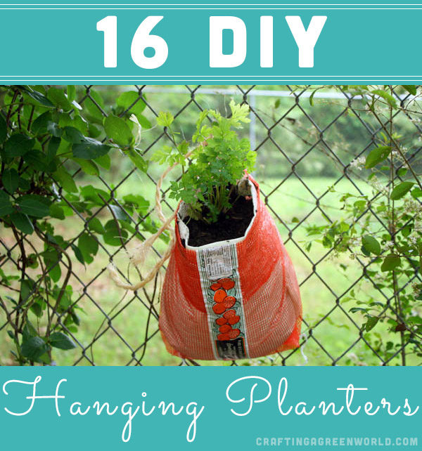 Hanging planters allow you to plant more in a small space. And you don't have to buy one - make one of these DIY hanging planters!