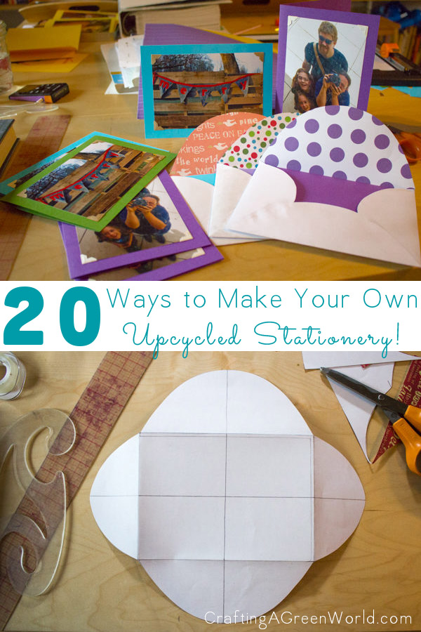 Got thank-you notes or birthday invites to write? Here are 20 ways to create your own, recycled handmade stationery!