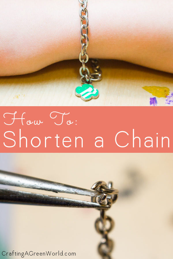 Does your favorite bracelet keep slipping off of your wrist? Here's how to shorten a chain, so you never lose it again. You can do this, I promise!