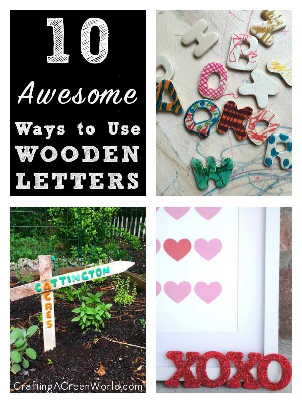 There are so many fun, creative ways to use wooden letters. Whether you've got lots of tiny letters or one large one, there are project ideas here for you!