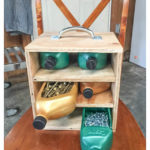 Upcycle motor oil bottles and organize your garage at the same time! These bottles are sturdy and begging to be reused!