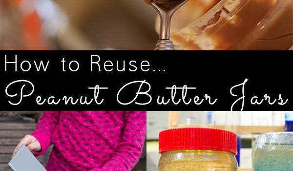 empty peanut butter jar