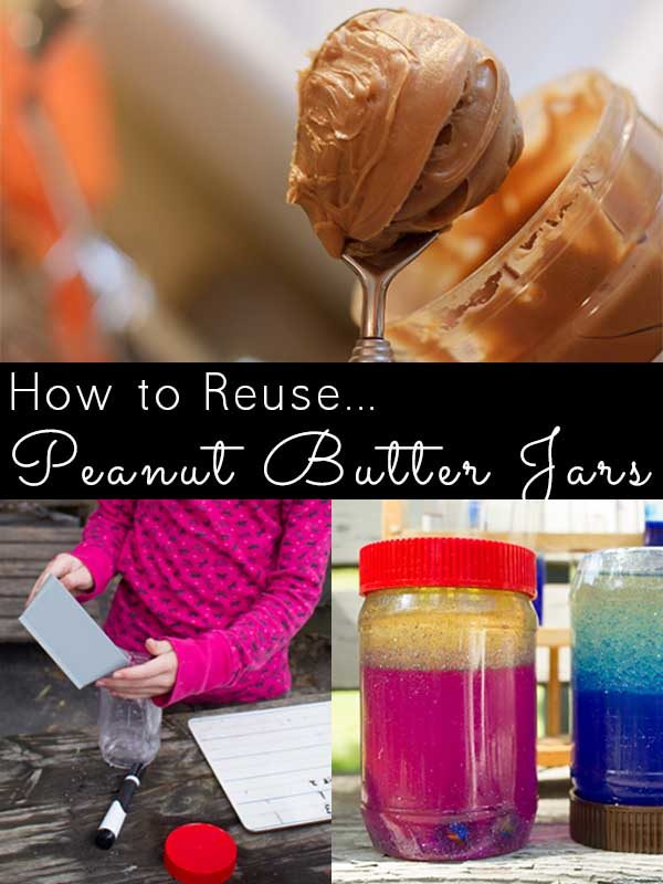 If you have kids, chances are you go through lots of peanut butter. Here's how to reuse a peanut butter jar instead of tossing it.