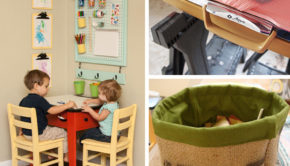 These are the upcycled kid art supply storage ideas I'm looking at for my own kid's messy art stash.