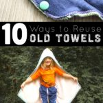 Don't throw away towels that are tattered, torn, or stained. There are lots of useful ways to reuse old towels instead.