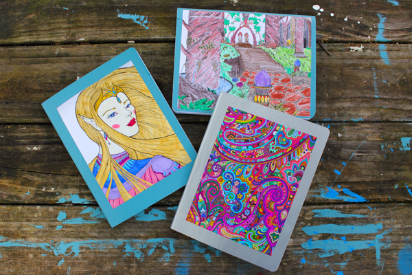 Coloring Pages Crafts and DIY School Supplies: How to Embellish a Composition Book