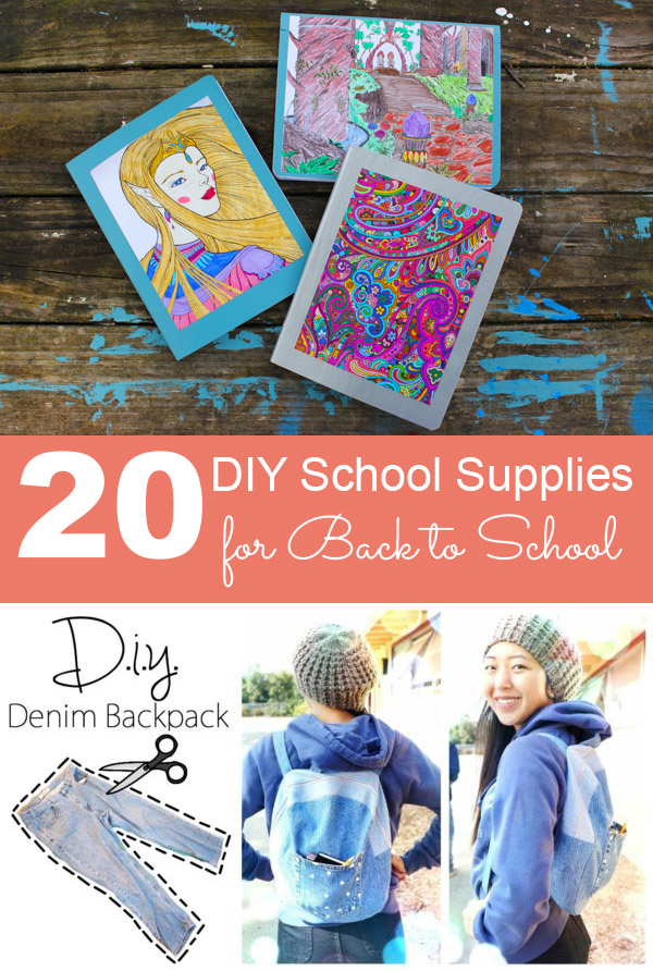 Whether you're making some of your kid's school supplies from scratch, or you'd just like to personalize them, these DIY school supplies will make going back to school a lot more fun!