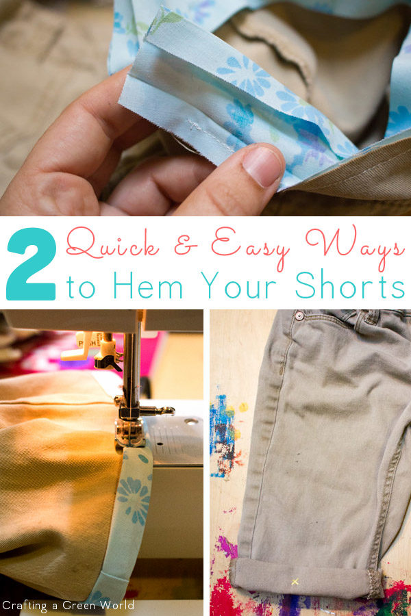 Cut-offs don't have to look sloppy. Here are two easy ways to hem cut-offs that look finished and professional.