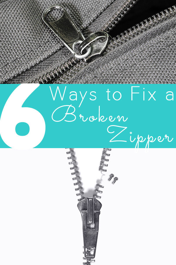how to fix a zipper on a back pack